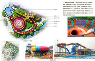 Fiberglass Water Park Equipment Super Bowl Water Slide with 19m Height and 2 Rider