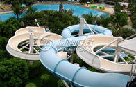 Large Outdoor Waterpark Fiberglass Water Slides / Spiral Water Slide for Extreme Water Park