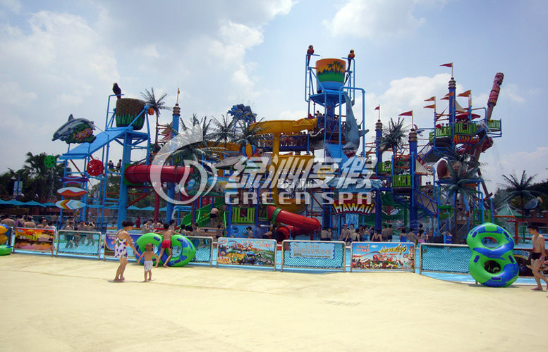 Customized Colorful Huge Aqua Playground Equipment with Steel Aquatic Play Structures