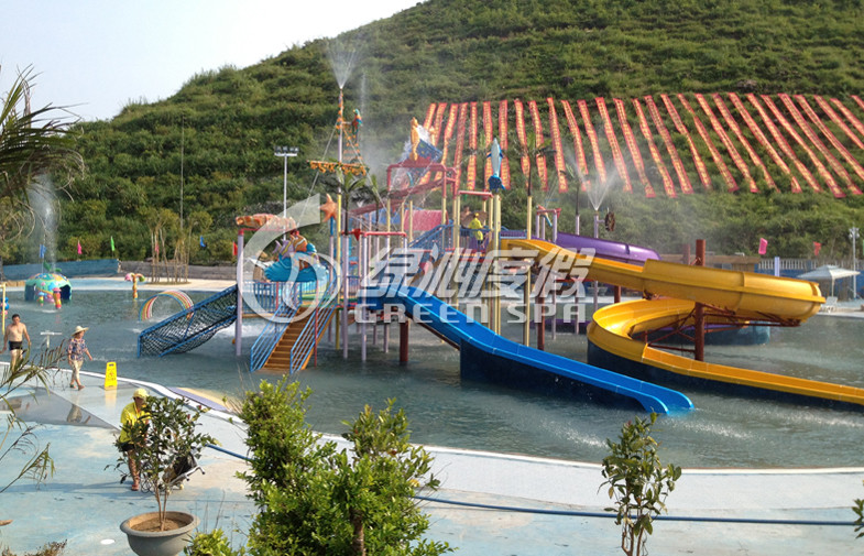 Giant Fiberglass Kids Water Playground Aqua Park Equipment For Family Water Fun