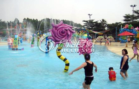 Children Water Playground Funny Croal Flower for Commercial Amusement Park Equipment